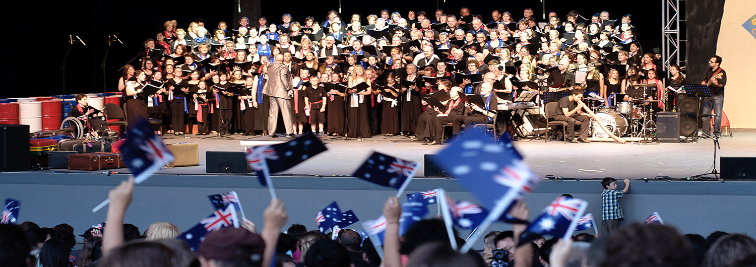 Australia Day concert 2012 in Melbourne it's concerts with different theme is chosen to celebrate the rich cultural heritage that makes up our wonderful nation.