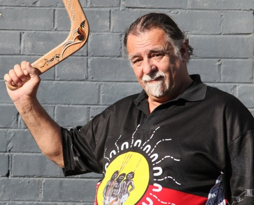 An Aboriginal elder shares the traditional storytelling techniques of indigenous Australian culture.