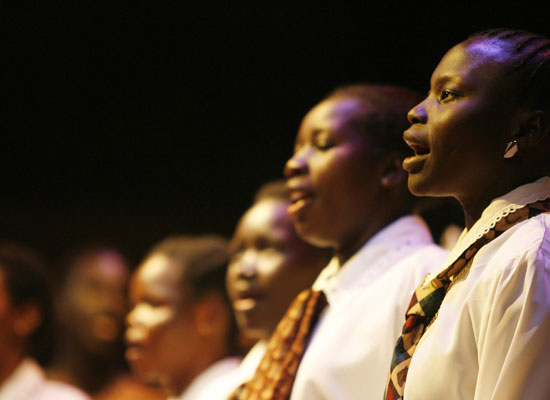 This harmonic Sudanese choir brings together men and women from many different regions of Sudan, singing in many different languages.