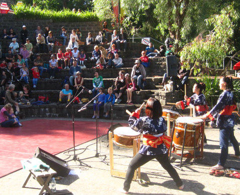 Each year PAN has presented four afternoon concerts featuring local world musicians performing.