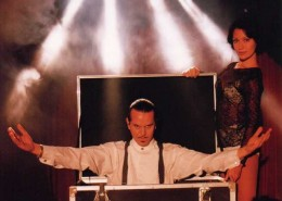 Stage magic is a unique blend of magic, illusion and audience participation and is able to be performed for a large group of people.